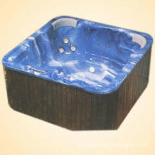 Whirlpool and Outdoor Spa Bathtub Combined with Acrylic Body and Wood Skirting