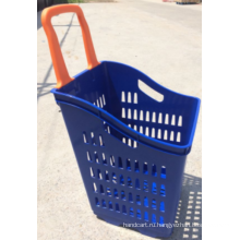 Корзина для покупок с двумя колесами