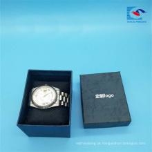 Caixa de empacotamento do relógio especial feito sob encomenda quente do papel da venda com logotipo da folha da tira