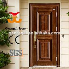 Efecto de lujo puertas de acero de la casa delantera