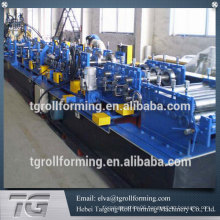 Gearbox Driven C Z Purlin Roll Forming Machine Use Hydraulic Pre Punching 3mm Thickness