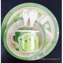 Eco-Friendly Bamboo Kids Tableware Set