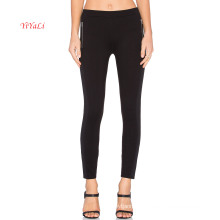 Decorative Side Zipper Black Top Fashion Legging