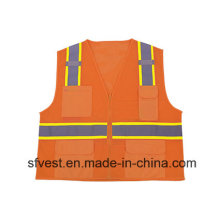 Hot Sales Reflective Safety Vest with Solid Pockets
