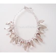 Побрякушки побрякушки светло-коричневый Кристалл заявление ожерелье для вечеринки или шоу