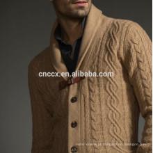 15PKSW01 2017 Nova camisola de lã merino 100% cabo dos homens quentes grossos
