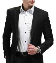 Two Button Non-Ironing Business Man Suit (W0166)