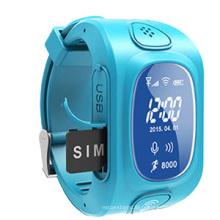 Enfants de traqueur de GPS avec des systèmes de suivi de GPS, téléphone mobile de montre (WT50-KW)