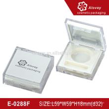 Einfacher weißer klare Kunststoff-Lidschatten-Container
