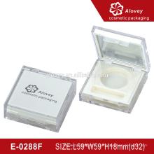 Простой белый прозрачный пластиковый контейнер для теней для век