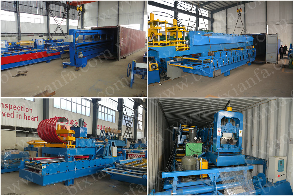 Nigeria Jenis Logam Roof Panel Roll Forming Machine