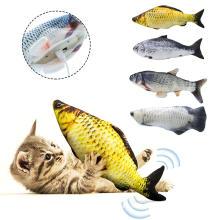 Cat Fish Toy Catnip Interactive Plush Stuffed Fish Toys Kitten Chew Bite Scratch Board Post Teaser Teether Pet Cat Toys Supplies