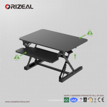 Orizeal desktop adjustable standing desk, black raisable desktop (OZ-OSDC004)
