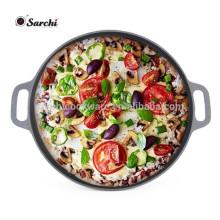 Gusseisen-Pflanzenöl-Beschichtung Pizza-Pfanne