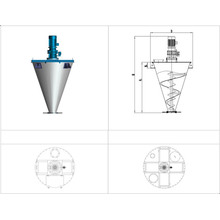 Mixer Cone Screw Double Precise