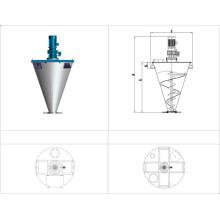 Mélangeur de cône de double vis-modèle Dsh / double mélangeur de vis pour médical
