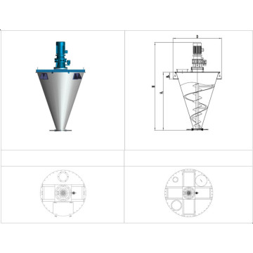 Mixing machine for pharmaceutical powder