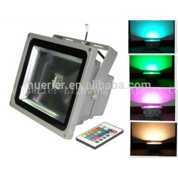 Meilleur prix bon marché 12-24v 100-240v 86-265v 50W RGB led spot projecteur 50w
