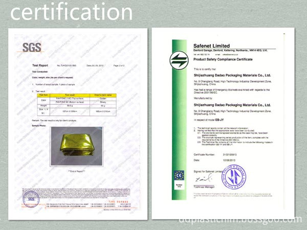emergency blanket CE certification