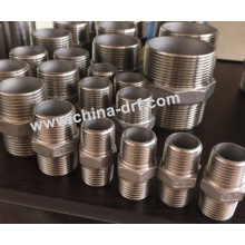 Raccords de tuyaux, tétine hexagonale, acier inoxydable en usine
