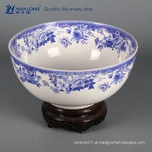 Azul e branco design chinês porcelana decoração do lar
