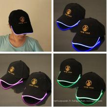 Chapeau clignotant de LED avec le logo imprimé