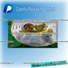 Aluminium fishing soft bait zipper bag/fishing soft bait zip&window