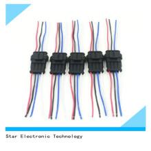 Conector macho y femenino del arnés de cable del coche auto a prueba de agua de PA66 4 pin