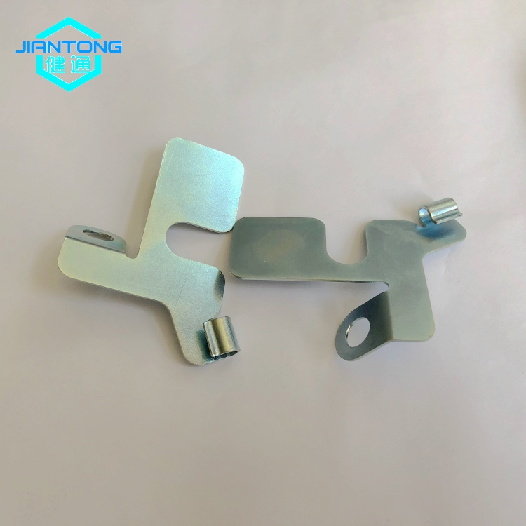 Custom Sheet Metal Stamping Zinc Plated Stamped Parts 4