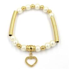 Großhandelsart und weise Edelstahl-Perlen-Armband-Schmucksachen