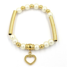 Wholesale Fashion Stainless Steel Pearl Bracelet Jewelry