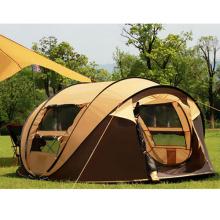 Acampar al aire libre automático 2-3-4 Playa Grande Rainproof Family Even Tent
