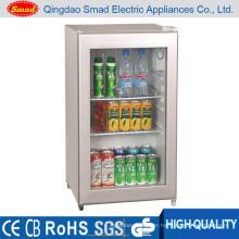 transparent showcase mini bar refrigerator small size