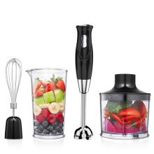 2-Speed Electric Hand Mixer Stainless Steel Set with Food Chopper Whisk and  Free Beaker Attachments Hand Blender