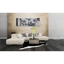 Metallic Floral Wall Art Oil Painting