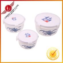Caixa de almoço de plástico de venda quente 3PCS