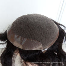 Alibaba 10 years manufacturer 100% human hair customize toupee for sale