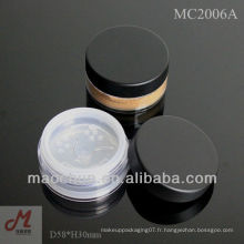 MC2006A 3g / 8g / 10g / 20g / 30g récipient de maquillage minéral