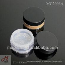 MC2006A 3g / 8g / 10g / 20g / 30g recipiente de maquiagem mineral sifter fechável
