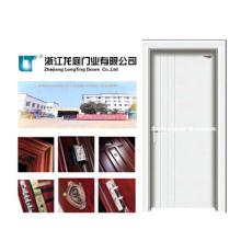 Porta de madeira interior contínua com cor branca (LTS-118)