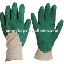 Knit Handgelenk Farbe Gummi zurück offen Latex beschichtete Handschuhe