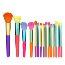 Makeup Brushes 15 Pieces Colourful Makeup Brush Set Synthetic Kabuki Foundation Eyeshadow Make Up Brushes Set