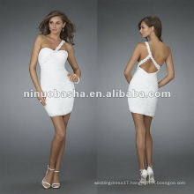 Ruched one Shoulder Sweetheart Cocktail Dress