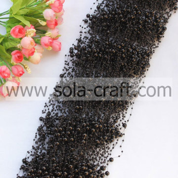 Wholesale Black 3+8MM Artificial Faux Pearl Beaded Garland Online