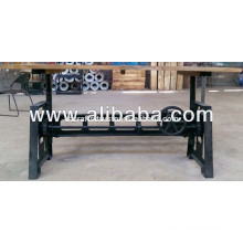 Rough Wood Top Industrial Crank Table