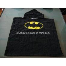100 % Baumwolle Batman Poncho Handtuch / Baby Gewand