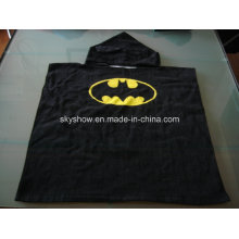 100% algodón Batman Poncho toalla / traje del bebé