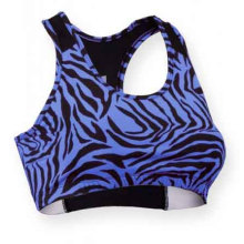 Sublimación personalizada, sujetador de yoga, sujetador deportivo, sujetador deportivo