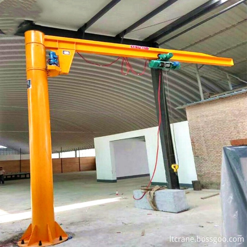 360° rotated column jib cranes
