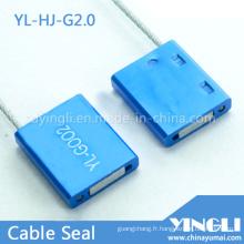 Joint de câble jetable inviolable avec impression laser